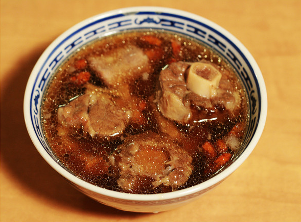 Bowl of Chinese oxtail soup