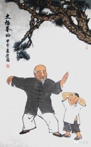 Tai chi cartoon