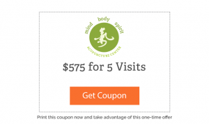 $575 for 5 visits